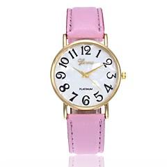 preiswerte Herrenuhren-Herrn Damen Armbanduhr Quartz Schwarz / Weiß / Blau Armbanduhren für den Alltag Analog Charme Modisch - Rosa Khaki Leicht Grün