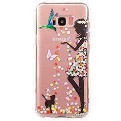 tanie Galaxy S3 Etui / Pokrowce-Kılıf Na Samsung Galaxy S8 S7 Ultra cienkie Przezroczyste Wzór Czarne etui Seksowna dziewczyna Miękkie TPU na S8 Plus S8 S7 edge S7 S6