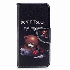 Недорогие Чехлы и кейсы для LG-Кейс для Назначение V30 Q6 Бумажник для карт Кошелек со стендом Флип Магнитный С узором Чехол Слова / выражения Твердый Кожа PU для LG