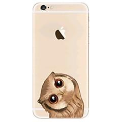 для крышки корпуса ультратонкий прозрачный узор задняя крышка чехол сова мягкий tpu для iphone яблока iphone 8 плюс iphone 8 iphone 7 плюс