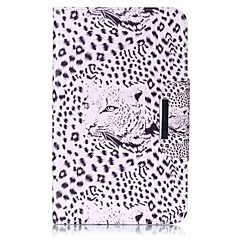 cartera de titular de tarjeta de patrón de leopardo con estuche de pie flip magnético pu caso de cuero para Samsung Galaxy Tab e 8.0 t377