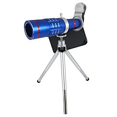 orsda® upgradé hd 18x zoom télescope téléobjectif ensembles de lentilles de caméra clipsables avec trépied pour smartphones (bleu)