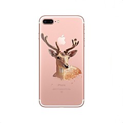 Кейс для Назначение Apple Прозрачный С узором Задняя крышка Животное Рождество Мягкий Термопластик для iPhone X iPhone 8 Plus iPhone 8