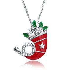 Dame Halskædevedhæng Kædehalskæde Krystal Kvadratisk Zirconium Giraf Rødguldbelagt Legering Smykker Til Jul