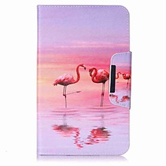 Flamingo Pattern Card Holder Wallet with Stand Flip Magnetic PU Leather Case for Samsung Galaxy Tab E 8.0 T377 T377V 8.0 inch Tablet PC