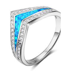 Dam Bandringar Syntetisk Opal lyxiga smycken Sterlingsilver Smycken Till Datum