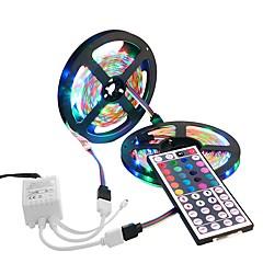 お買い得  LED ストリングライト-10m ライトセット 600 LED 3528 SMD 1 44キーリモコン RGB 防水 / カット可能 / 装飾用 12 V 1セット / IP65 / 接続可 / ノンテープ・タイプ