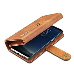 Кейс для Назначение Apple iPhone X Кошелек Бумажник для карт со стендом Флип Чехол Сплошной цвет Твердый Натуральная кожа для iPhone X
