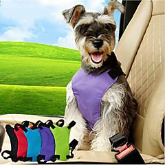 お買い得  犬用首輪/リード/ハーネス-ネコ 犬 車内用ドッグリード/犬用シートベルト 調整可能 ソリッド ナイロン ブラック パープル ブルー