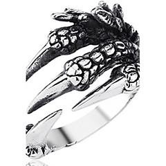 お買い得  指輪-男性用 バンドリング  -  タフケース ジュエリー 青銅色 用途 Halloween ストリート 調整可