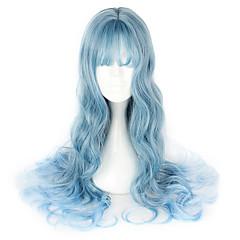 tanie -Sweet Lolita Blue Lolita Peruki Lolita 65cm CM Peruki Cosplay Peruka Na