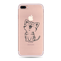 Case Kompatibilitás Apple iPhone X iPhone 8 iPhone 8 Plus Ultra-vékeny Átlátszó Minta Hátlap Cica Puha TPU mert iPhone X iPhone 8 Plus