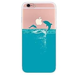 Недорогие Кейсы для iPhone 4s / 4-Кейс для Назначение Apple iPhone X iPhone 8 iPhone 8 Plus Ультратонкий Прозрачный С узором Кейс на заднюю панель Мультипликация Животное