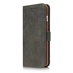 Кейс для Назначение Apple Кошелек Бумажник для карт со стендом Флип Чехол Сплошной цвет Твердый Искусственная кожа для iPhone X iPhone 8