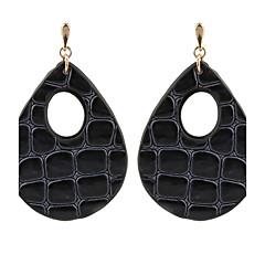 Damskie Kolczyki wiszące Kolczyki koła Biżuteria Modny Osobiste Skórzany Miedź Kropla Biżuteria Na Casual Urlop