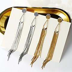 Dames Druppel oorbellen Ring oorbellen Sexy Opvallende sieraden Verzilverd Legering Lijnvorm Sieraden Voor Feest Toneel