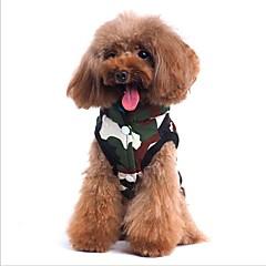 tanie Odzież dla kota-Kot Pies Płaszcze Yelek Ubrania dla psów Codzienne Dwustronny Chrismas Halloween Litera i numer Camouflage Color Kostium Dla zwierząt