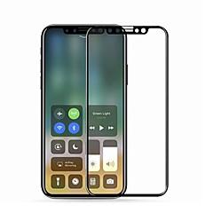 Недорогие Защитные пленки для iPhone X-Защитная плёнка для экрана Apple для iPhone X Закаленное стекло 1 ед. Защита от царапин 2.5D закругленные углы Уровень защиты 9H