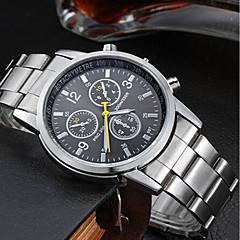 お買い得  メンズ腕時計-男性用 リストウォッチ クォーツ 耐水 ステンレス バンド ハンズ チャーム シルバー - ブラック オレンジ ブルー