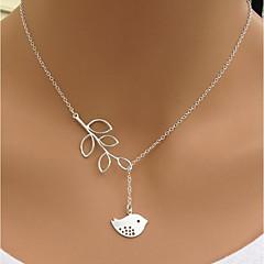 Жен. Ожерелья с подвесками В форме листа Птица Сплав Мода Простой стиль Бижутерия Назначение Повседневные На выход