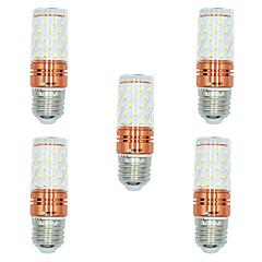 お買い得  LED 電球-BRELONG® 5個 12W 1000lm E27 LEDコーン型電球 T 60 LEDビーズ SMD 2835 温白色 ホワイト デュアル光源色 220-240V