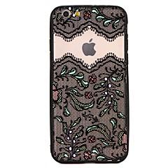 Кейс для Назначение Apple iPhone 7 iPhone 7 Plus Защита от удара С узором Задняя крышка Бабочка Кружева Печать Твердый PC для iPhone 7