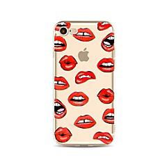 Недорогие Кейсы для iPhone 4s / 4-Кейс для Назначение Apple iPhone X / iPhone 8 / iPhone 8 Plus Прозрачный / С узором Кейс на заднюю панель Соблазнительная девушка Мягкий ТПУ для iPhone X / iPhone 8 Pluss / iPhone 8