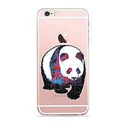 Кейс для Назначение Apple iPhone X iPhone 8 iPhone 8 Plus Ультратонкий Прозрачный С узором Задняя крышка Панда Мягкий TPU для iPhone X