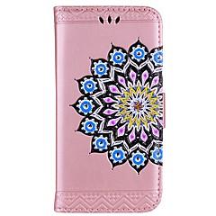 Кейс для Назначение Redmi Note 4 Кошелек Бумажник для карт со стендом Флип Рельефный С узором Чехол Мандала Сияние и блеск Твердый