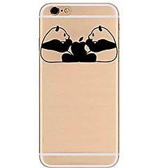 Назначение iPhone X iPhone 8 Чехлы панели Ультратонкий Прозрачный С узором Задняя крышка Кейс для Панда Мягкий Термопластик для Apple