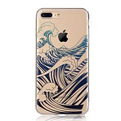 Χαμηλού Κόστους Θήκες iPhone-tok Για Apple iPhone X iPhone 8 iPhone 8 Plus Εξαιρετικά λεπτή Διαφανής Με σχέδια Πίσω Κάλυμμα Τοπίο Μαλακή TPU για iPhone X iPhone 8