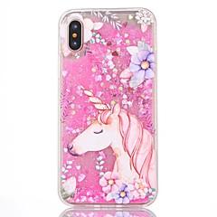 для крышки случая текучей жидкости картины задней крышки случая unicorn трудный ПК для яблока iphone x iphone 7 плюс iphone 7 iphone 6s