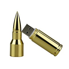 16gb metalen kogel usb 2.0 usb flash drive pen drive geheugen stick pendrive u schijf flash drive zilver / goud