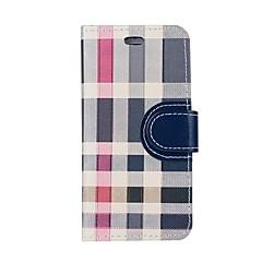 Недорогие Кейсы для iPhone 6-Кейс для Назначение Apple iPhone 8 iPhone 7 Бумажник для карт Кошелек со стендом Флип Чехол Геометрический рисунок Твердый Кожа PU для
