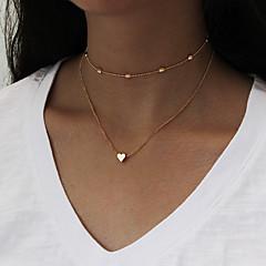 ieftine -Pentru femei Coliere Choker Coliere cu Pandativ Lănțișoare Bijuterii Personalizat Euramerican stil minimalist Modă Multi-moduri Wear