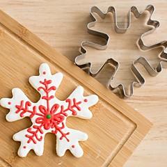 tanie Przybory i gadżety do pieczenia-Boże Narodzenie płatki śniegu ciasteczka cięcia stali nierdzewnej stali herbatnik ciasta pleśń pieczenia narzędzi
