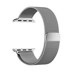 Milanese Loop Magnetic Wrist Watchband for iWatch 38mm - SILVER