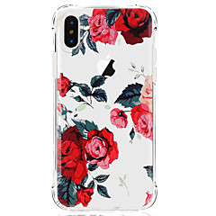 billige iPhone 4s / 4-etuier-Etui Til Apple iPhone X iPhone 8 iPhone 8 Plus Ultratyndt Transparent Mønster Bagcover Blomst Blødt TPU for iPhone X iPhone 8 Plus iPhone