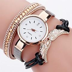 Women's Fashion Watch Simulated Diamond Watch Bracelet Watch Chinese Quartz Wing Imitation Diamond PU Band Charm Elegant Casual Black