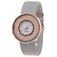 Mujer Reloj de Moda Reloj de Pulsera Cuarzo Acero Inoxidable Banda Elegantes Cool Casual Plata