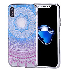 Недорогие Кейсы для iPhone 7 Plus-Кейс для Назначение Apple iPhone X / iPhone 8 / iPhone 8 Plus С узором Кейс на заднюю панель Мандала Мягкий ТПУ для iPhone X / iPhone 8 Pluss / iPhone 8