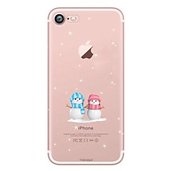 Case For Apple iPhone X iPhone 8 iPhone 8 Plus Ultra-thin Transparent Pattern Back Cover Christmas Soft TPU for iPhone X iPhone 8 Plus