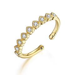 Жен. Обручальное кольцо Цирконий Любовь Сердце Стерлинговое серебро Циркон В форме сердца Бижутерия Назначение Свадьба Обручение