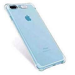 billige Etuier til iPhone 7-Etui Til Apple iPhone X iPhone 8 iPhone 8 Plus Stødsikker Blinkende LED-lys Bagcover Transparent Blødt TPU for iPhone X iPhone 8 Plus