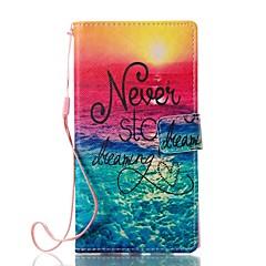 Кейс для Назначение Sony Кошелек Бумажник для карт со стендом Флип С узором Магнитный Чехол Пейзаж Твердый Искусственная кожа для Sony