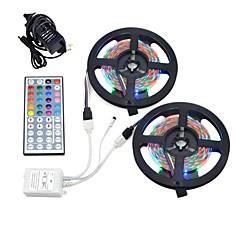 お買い得  LED ストリングライト-10m ライトセット 600 LED 3528 SMD 1 12V 6Aアダプタ / 1 44キーリモコン RGB カット可能 / 防水 / 装飾用 12 V 1セット / IP65 / 接続可 / ノンテープ・タイプ