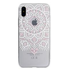 Etui Käyttötarkoitus Apple iPhone X iPhone 8 Läpinäkyvä Kuvio Takakuori Lace Printing Pehmeä TPU varten iPhone X iPhone 8 Plus iPhone 8