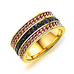 رخيصةأون -للرجال خواتم حزام الراتنج الكورية موضة تيتانيوم معدني Geometric Shape مجوهرات من أجل يوميا شارع