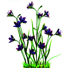 Dekoracja Aquarium Kwiaty Ceramiczny