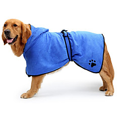 Cat Dog Cleaners & Polishes Dog Clothes Keep Warm Convertible Dress Solid Blue Brown